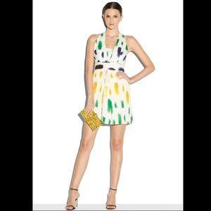Milly multicolor brushstroke paint halter dress